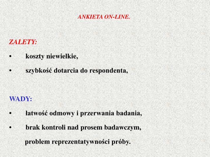 ANKIETA ON-LINE.