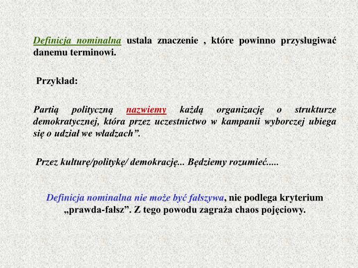 Definicja nominalna