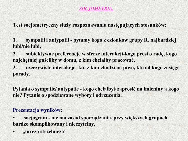 SOCJOMETRIA.