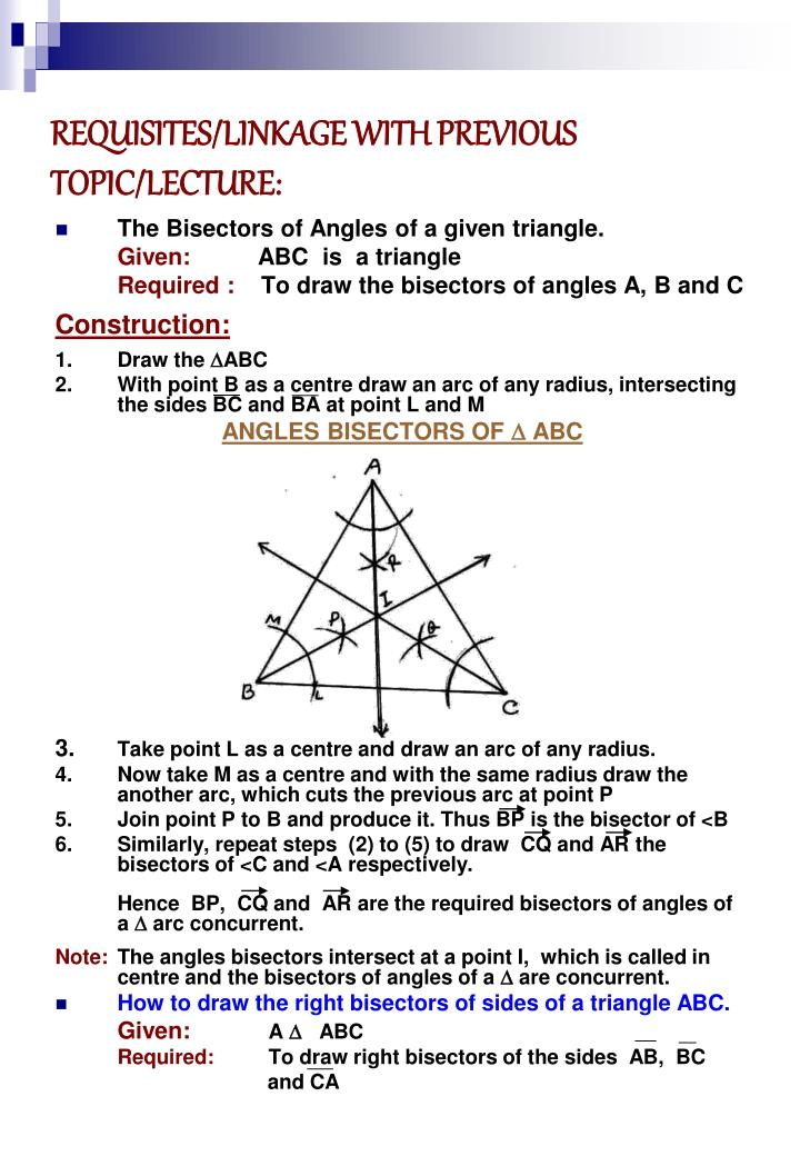 REQUISITES/LINKAGE WITH PREVIOUS TOPIC/LECTURE: