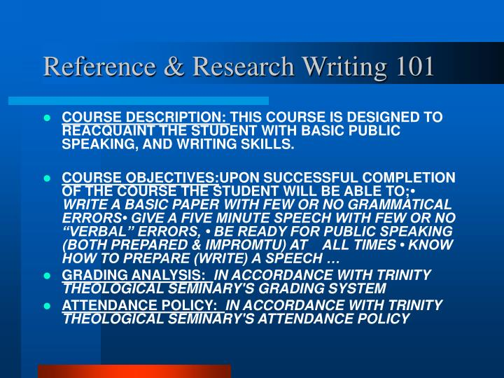 Reference research writing 1012