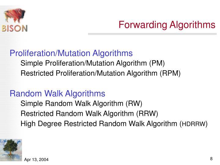 Forwarding Algorithms