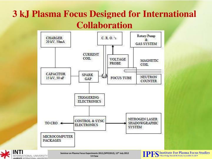 3 kj plasma focus designed for international collaboration