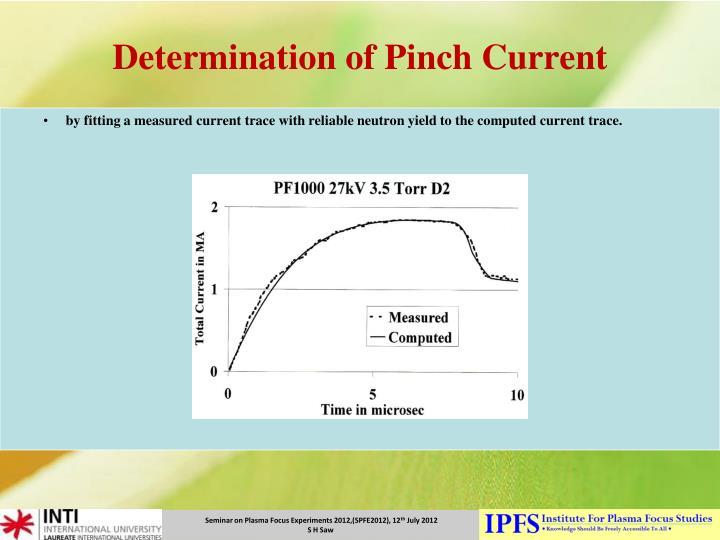 Determination of Pinch Current