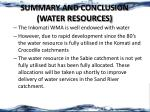 summary and conclusion water resources