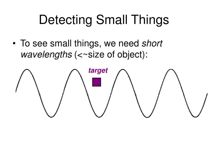 Detecting Small Things
