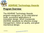 ashrae technology awards