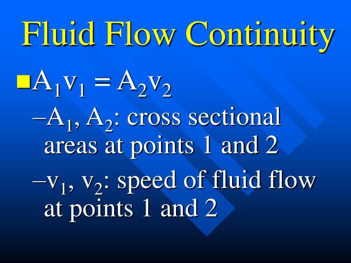 Fluid Flow Continuity