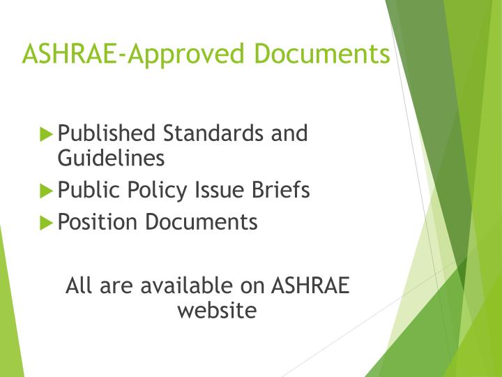 ASHRAE-Approved Documents