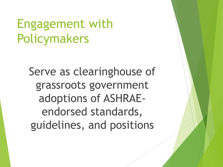 Engagement with Policymakers