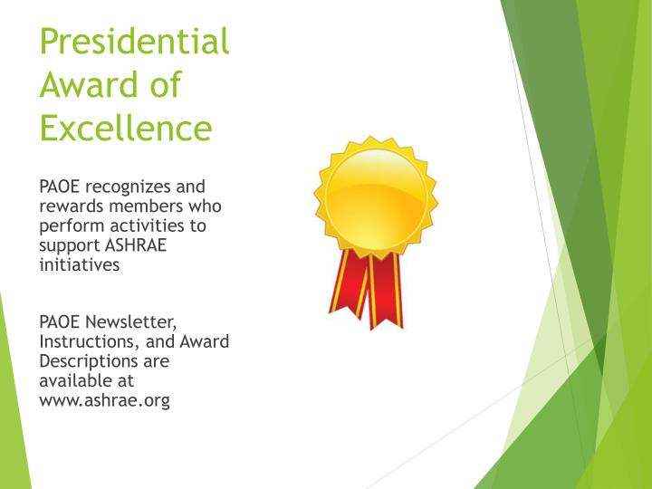 Presidential Award of Excellence