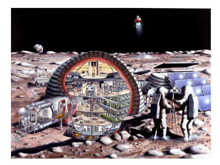 Moon base!