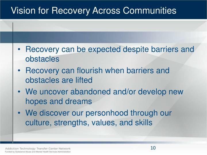 Vision for Recovery Across Communities