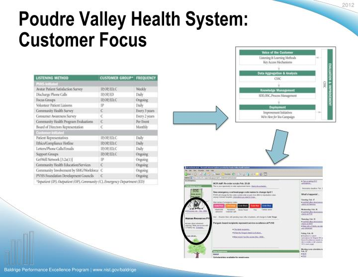 Poudre Valley Health System: Customer Focus