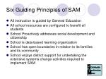 six guiding principles of sam
