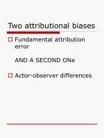 two attributional biases