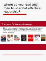 whom do you read and then trust about effective leadership