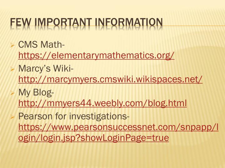 CMS Math-