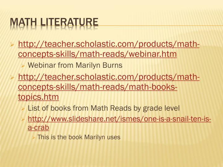 http://teacher.scholastic.com/products/math-concepts-skills/math-reads/webinar.htm