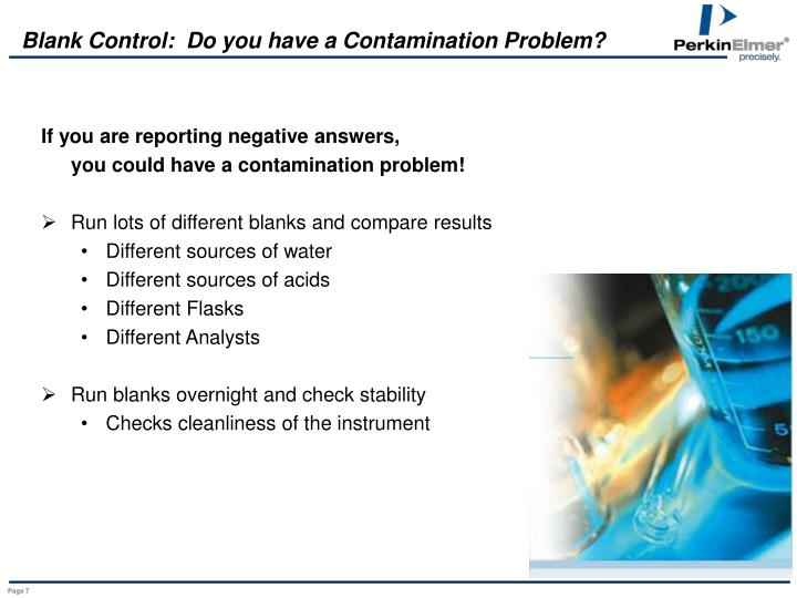 Blank Control:  Do you have a Contamination Problem?