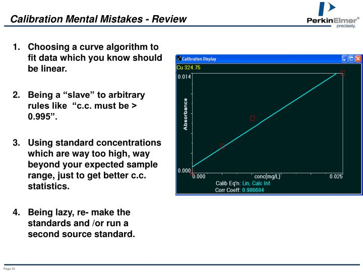 Calibration Mental Mistakes - Review