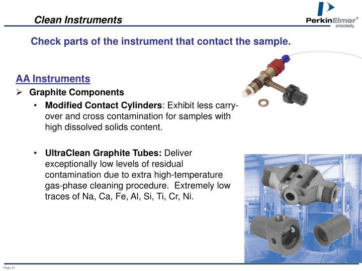 Clean Instruments