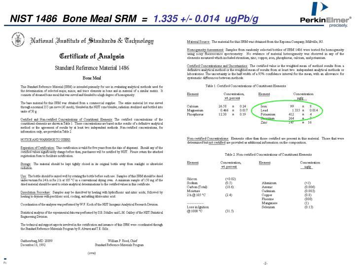 NIST 1486  Bone Meal SRM  =