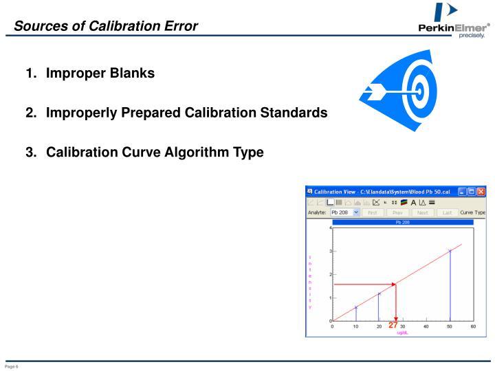 Sources of Calibration Error