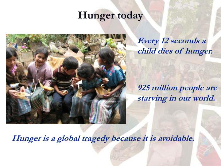 Hunger today