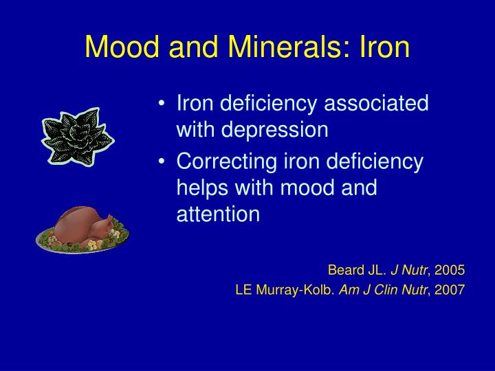 Mood and Minerals: Iron