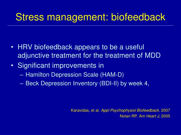 Stress management: biofeedback