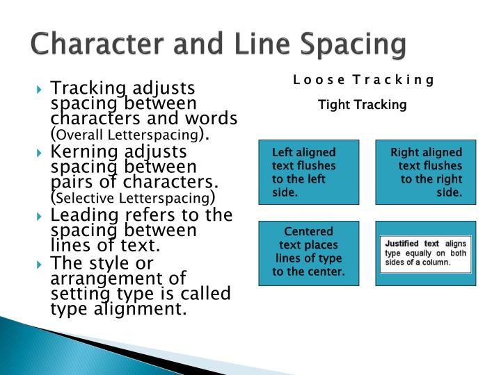 Character and Line Spacing
