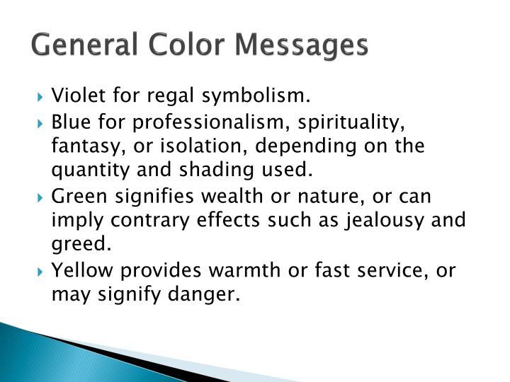 General Color Messages