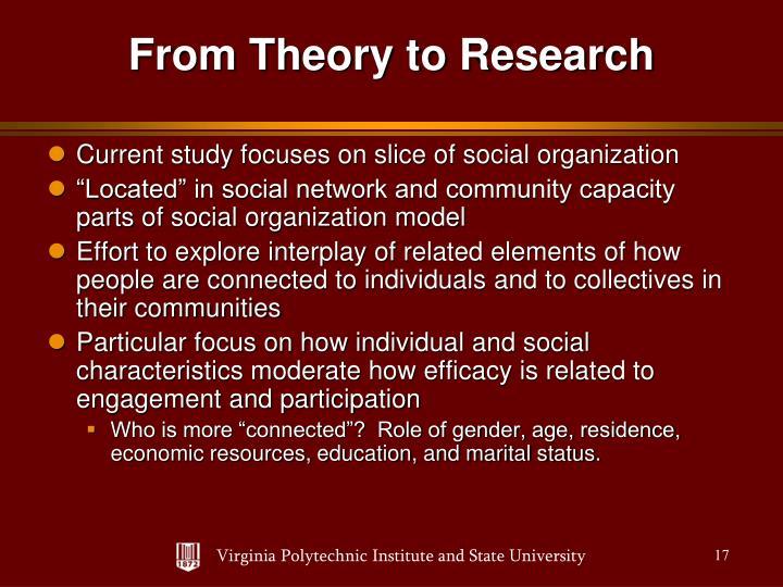 Current study focuses on slice of social organization