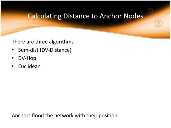 Calculating Distance to Anchor Nodes