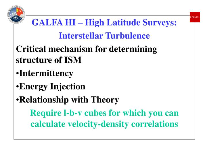 GALFA HI – High Latitude Surveys: