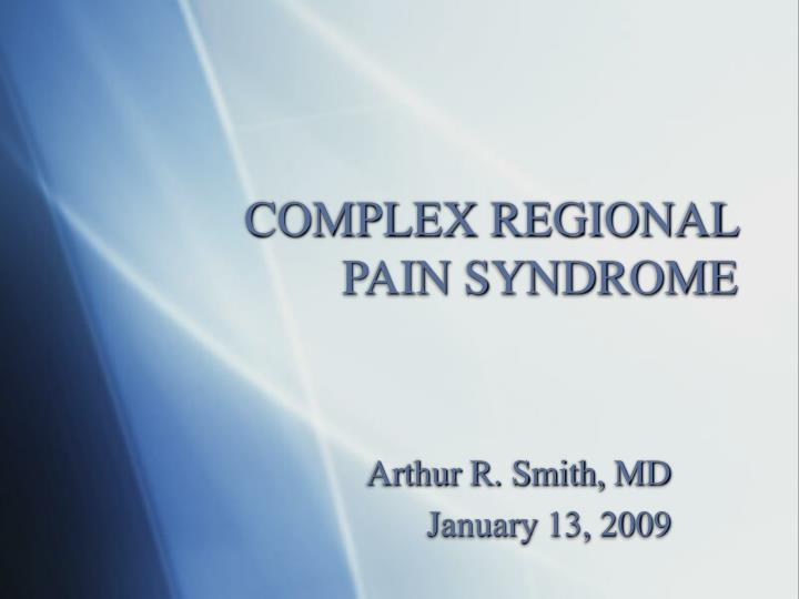 complex regional pain syndrome n.