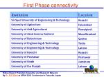 first phase connectivity4