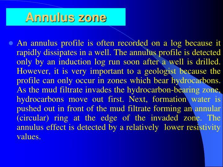 Annulus zone