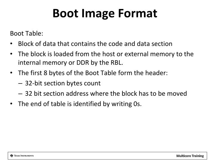 Boot Image Format