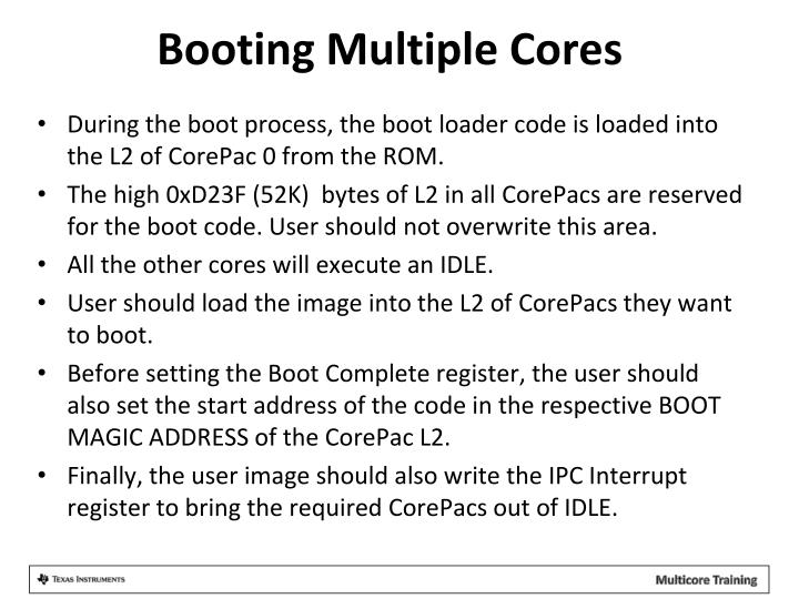 Booting Multiple Cores