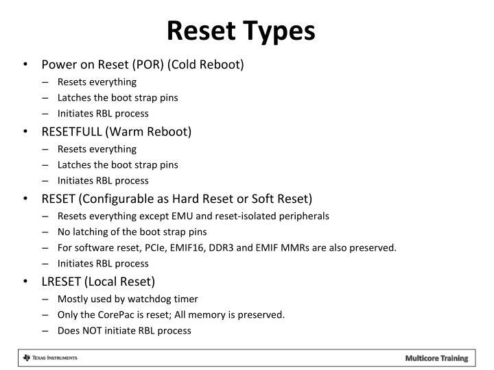 Reset Types