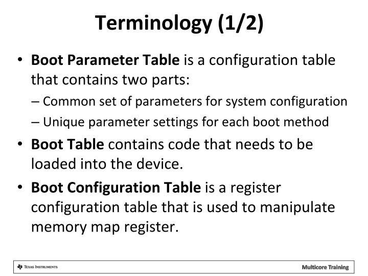 Terminology (1/2)