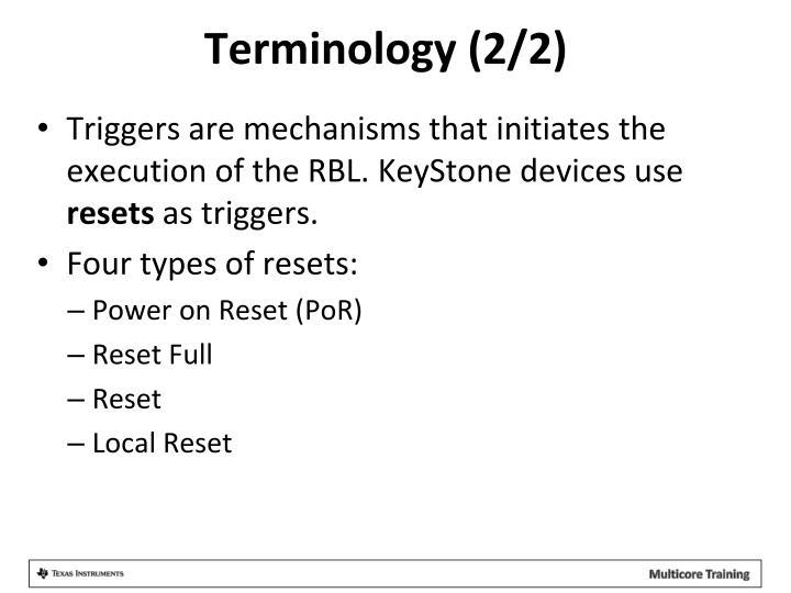 Terminology (2/2)