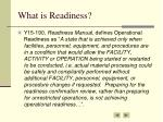what is readiness