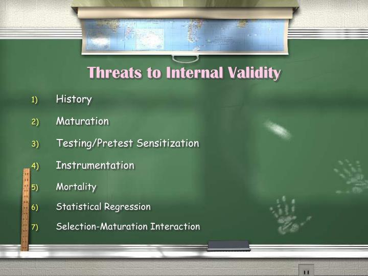Threats to internal validity