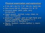 physical examination and exploration