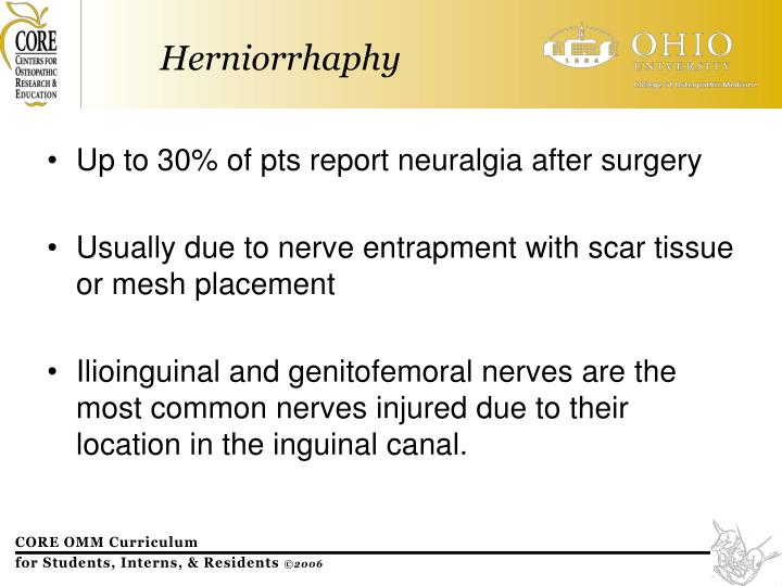 Up to 30% of pts report neuralgia after surgery
