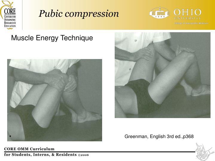 Pubic compression