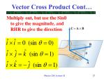 vector cross product cont